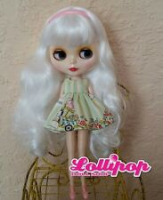 Factory Type Neo Blythe Doll White Hair  - with Outfit OR Stand