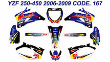 167 YAMAHA YZF 250 450 2006 2007 2008 2009 DECALS STICKERS GRAPHICS KIT