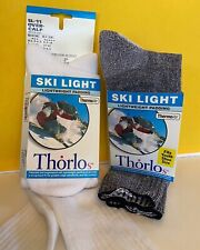 2 pair THORLOs Ski Snow Light Socks Over the Calf SL-11 Men Women Youth