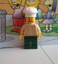 Christmas Town lego mini figure PASTRY CHEF IN KNIT SWEATER man cook