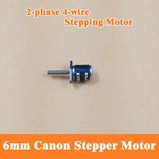 10PCS 6mm Dia Canon 2-phase 4-wire Micro MINI Stepper Motor With Thread Rod