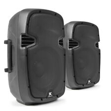 """High Powered Active Powered PA Speakers 800W 10"""" Woofer Disco SPJ1000AD UK Stock"""