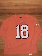 Denver Broncos NFL Team Apparel Payton Manning Orange T Shirt Men Size Large