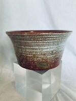 Haeger Pottery Brown Drip Glaze Planter