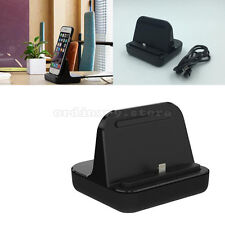 For iPhone Samsung Desktop Charger Stand Dock Station Charge Data Sync Cradle