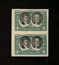 Argentina 1910 Sc# 161b, Imperf Pair of Stamps