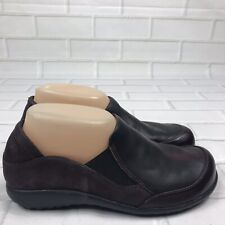 Naot Brown Leather Slip On Wedge Loafer Walking Flats Women's Size US 7 EUR 38