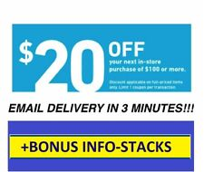 Exp 3 Days ONE (1X) $20 OFF $100 LOWES 1Coupon1 - INSTORE+BONUS INFO on stacking