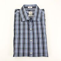Peter Millar Seaside Men's Multi color Plaid Check Button Front Large Shirt