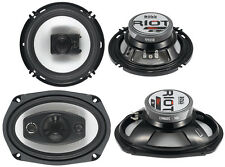 "Boss Riot R94 6x9"" 500W 4 Way Car + R63 6.5"" 300W 3 Way Coaxial Audio Speakers"