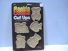 New listing Hutzler Cookie Cut Ups 5 Cutters Sealed #63 Car Train Fish Snowman Bear 1981
