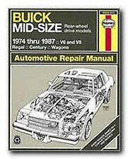 Buick Mid-Size RWD models 1974-1987 Repair Manual Haynes