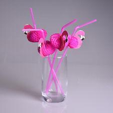 Flamingo on Paper Straws Wedding birthday Decoration Tropical Drinks tea KQ