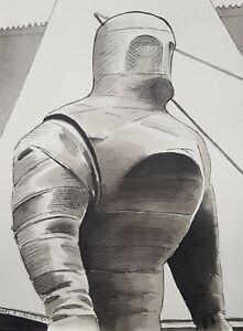 DR DOCTOR WHO ORIGINAL ART - 'PYRAMIDS OF MARS' Original Ink Drawing on paper