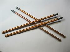 "4 x CARBON GOUGING RODS, ARC BRAZING CARBONS 9.5mm x 305mm (3/8"" x 12"")"