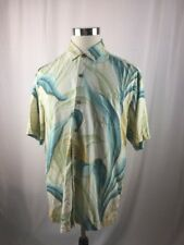 Tommy Bahama floral print button up shirt Size Large