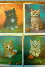 Lot of 3 Vintage Florence K Rogers Kitten Prints