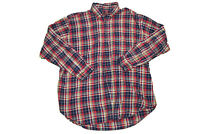 Brooks Brothers Men's Red Blue Yellow Plaid Flannel Button Down Original Polo XL