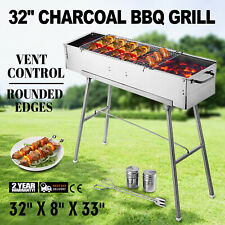 Party Griller 32 Stainless Steel Charcoal Grill BBQ Grill Camp Grill Portable