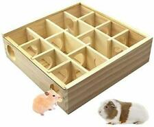 Wooden Hamster Maze 2.0, Small Animal Tunnel Toy Labyrinth Dwarf with