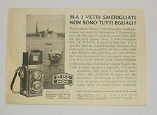 Pubblicità 1935 IKOFLEX ZEISS IKON PHOTO FOTO old advertising werbung publicitè