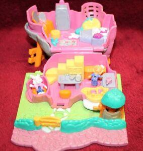 Polly Pocket Rabbit House Kaninchenhaus Animal Wonderland  2 Figuren 1994(A-D-2)