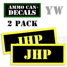 JHP Ammo Can Box Decal Sticker bullet ARMY Gun safety Hunting 2 pack YW