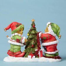 NEW Cherished Teddies Gwnar & Bjorn Elves Having A Ball 4053453 NIB Christmas
