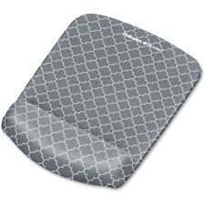 Fellowes PlushTouch Mouse Pad with Wrist Rest 7 1/4 x 9 3/8 x 1 Gray/White