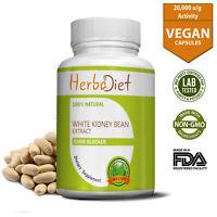 Carb Blocker Intercept Diet Weight Loss White Kidney Bean Extract 240 Capsules