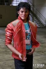 Michael Jackson BEAT IT Video Accurate Genuine Red Leather Jacket w/ Chain Mail