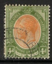 SOUTH AFRICA SG10 1913 4d ORANGE-YELLOW & OLIVE-GREEN USED