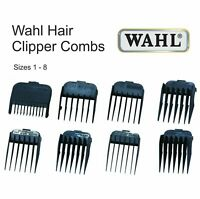 Wahl Hair Clipper Comb BLACK PLASTIC All Sizes Available 1 2 3 4 5 6 7 & 8