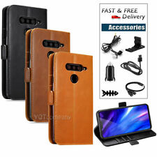 Leather Wallet Pouch Magnetic Cover Card Case For Lg V40 ThinQ + Accessories