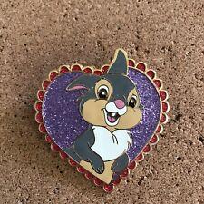 Disney Bambi Thumper Glitter Heart Shaped Fantasy Pin Le 35 - Flawed