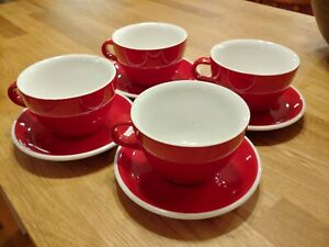 Acme Evolution Latte Cups/Mugs and Saucers (Scratch and Dent - Set of 4)