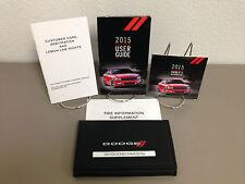 2015 Dodge Charger incl. SRT 392 SRT Hellcat OEM Owner's Manual w/ DVD & Case