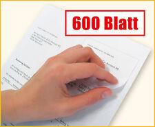 600 Blatt Rechnungspapier mit integriertem Etikett / Papier mit Etikett