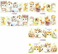 30 sets Nail art water transfer decal sticker wrap C series Kittens Cats C04