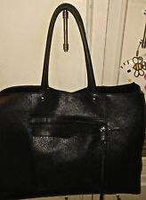Designer REBECCA MINKOFF Black Leather Tote Shopper Shoulder Bag Handbag Purse L