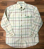 Orvis Flannel Shirt Men's Medium Plaid Multi-Color LS Button-Up Sportsman GUC