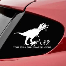 Funny Car Sticker YOUR STICK FIGURE FAMILY WAS DELICIOUS Decal Reflective Silver