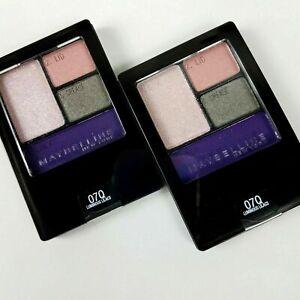 Lot 2 Maybelline Expert Wear Eyeshadow Quad Palette 07Q Luminous Lilac New