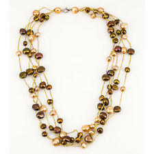 Chocolate Cultured Baroque Freshwater pearl necklace