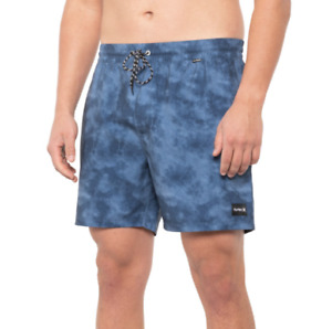 """Hurley Shorts Mens Size Small Volley Swim Trunks - 17"""" UNLINED Shorts New"""