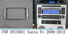 Car Stereo Radio Fascia Panel Trim Silver Dash For Hyundai Santa Fe 2006-2012
