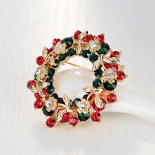 Pin Crystal ZC Stone Christmas Brooch Fashion Jewelry Brooches Christmas Gift