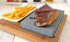 Hot Cooking Stone Steak Set Hibachi Black Rock Grill Lava Griddle Steakstone