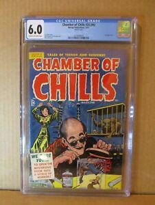 Chamber of Chills 24 (#4) CGC 6.0 UNREAD Lee Elias Bondage Lab `51 Harvey Powell