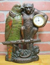 Polly Wants Cherry Drips A Bauer & Co Chicago Antique Advertising Clock Sign Ci